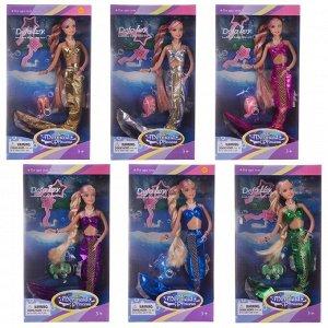 Кукла Defa Русалочка с волшебной прядью волос в наборе с аксессуарами, 33 см, 6 видов377