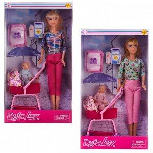 Кукла Defa Lucy На прогулке с малышом, 2 вида в коллекции254