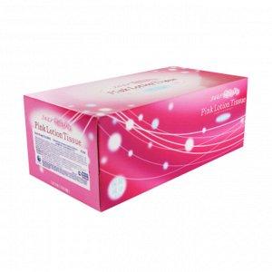 """002586 """"Kami Shodji"""" """"ELLEMOI"""" """"Pink"""" Бумажные розовые двухслойные салфетки с коэнзимом Q10 180шт(1 пачка)"""
