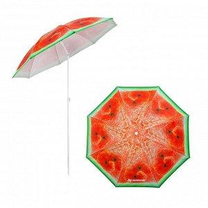 Зонт пляжный d 1,8м с наклоном Арбуз (19/22/170Т) (N-BU1907-180-W) NISUS