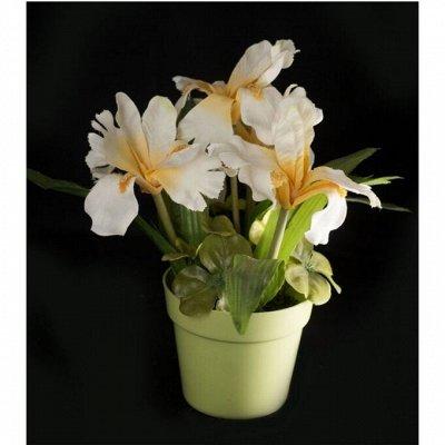 Праздник на ура- 21-1. Шары, посуда, свечи — Искусственные цветы в кашпо и горшках. Искусственный бонсай