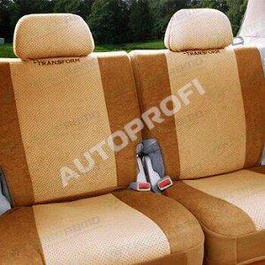 Чехлы AUTOPROFI TRANSFORM для заднего ряда (дивана), велюр, бежевый цвет, 6 предметов