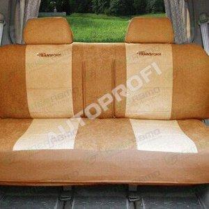 Чехлы AUTOPROFI TRANSFORM для заднего ряда (дивана), велюр, бежевый цвет, 5 предметов