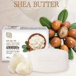"""Mukunghwa Глубокоувлажняющее и смягчающее туалетное мыло с маслом ши и экстрактом молока """"Shea Butter Beauty Soap"""""""