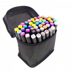 Набор из 48 двусторонних маркеров в сумке