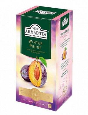 """Чай Ахмад """"Ahmad Tea"""" Зимний Чернослив, 25 пак"""