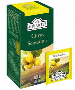 Чай цитрусовый черный Ахмад Ahmad tea Citrus sensation, 25 пак
