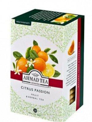 """Травяной чай Ахмад """"Ahmad Tea"""" Citrus passion, апельсин с шиповником и лимонной кислинкой, 20 пак"""