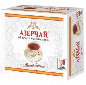 Чай Азерчай черный с бергамотом без конверта, 100 пак