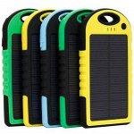 Power Bank 12000mAh на солнечных батареях + фонарь