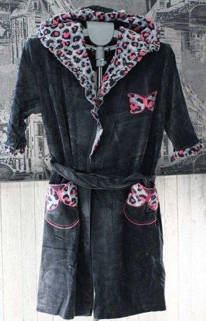 женский халат (антрацит)