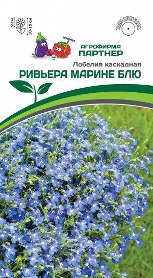 Семена лобелия каскадная РИВЬЕРА МАРИНЕ БЛЮ ^(10ШТ В АМП)