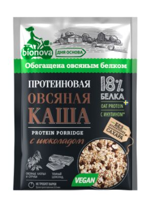 """Протеиновая каша быстрого приготовления """"Бионова"""", овсяная с шоколадом"""