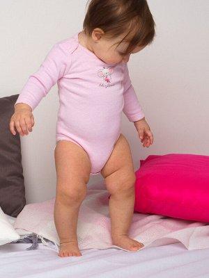 Боди детское трикотажное для девочек, 2 шт. в комплекте