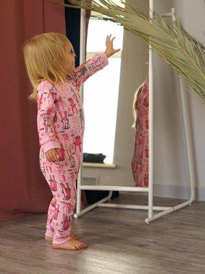 Комбинезон детский трикотажный для девочек, 3 шт в комплекте