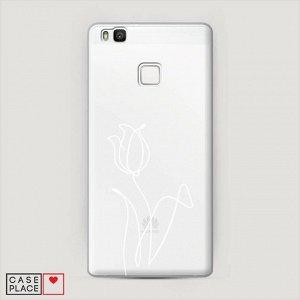 Пластиковый чехол Роза линия на Huawei P9 lite