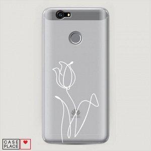 Пластиковый чехол Роза линия на Huawei Nova (CAN-L01/L11)