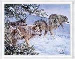 Алмазная живопись - мозаика Зимняя охота