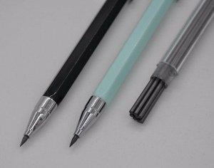 Механический карандаш M&G 2B 2 мм (+ 24 запасных грифеля)