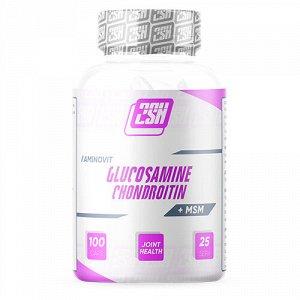 Для суставов и связок 2SN Glucosamine + Chondroitin + MSM  600 mg 100 caps
