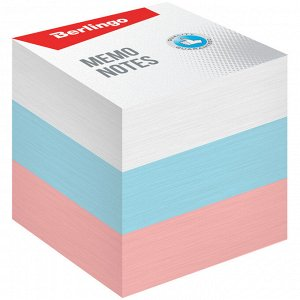 """Блок для записи Berlingo """"Триколор"""", 9*9*9см, цветной, пастель"""