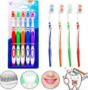 Набор зубных щеток 5шт, средние