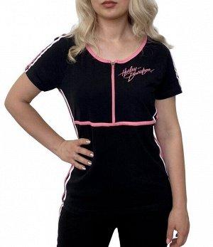 Женская спортивная футболка Harley-Davidson неформальный fashion-тренд – подиумная мода на улицах города №1004