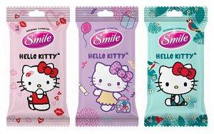 Smile Влажные салфетки Baby  Hello Kitty Хелло Китти 15шт