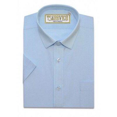 Царевич-детская сорочка это классика для школы — Рубашки детские однотонные к/р Tsarevich