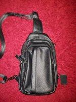 Плечевая мужская кожаная сумка
