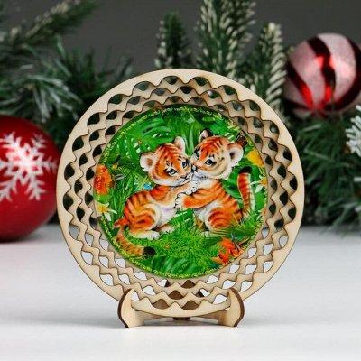 Яркие новогодние наклейки! Создаем атмосферу праздника — Декоративные тарелки