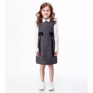 Платье для девочки Серо-черный