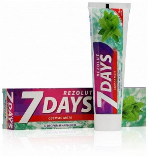 7 days Зубная паста компл. Свежая мята Защита от кариеса д/ежд исп 100 мл