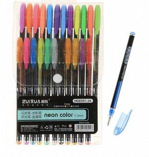 Неоновые ручки 24 цвета
