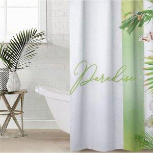 Штора для ванной комнаты Paradise, 145?180 см, оксфорд