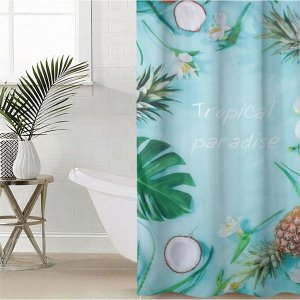 Штора для ванной комнаты «Тропический рай», 145?180 см, оксфорд