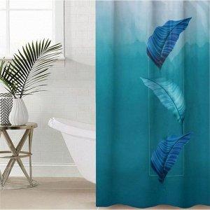 Штора для ванной комнаты «Безмятежность», 145?180 см, оксфорд