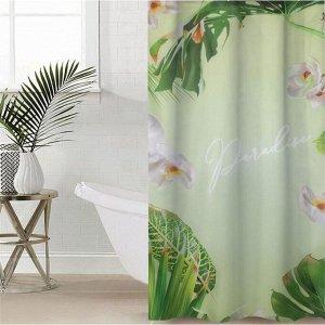 Штора для ванной комнаты «Рай», 145?180 см, оксфорд
