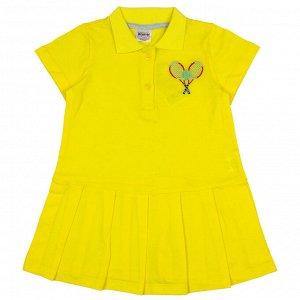 Платье-поло желтый