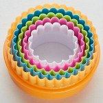 """Набор двусторонних пластиковых форм для печенья """"Кружочки"""" 5 размеров BE-4304P/5"""