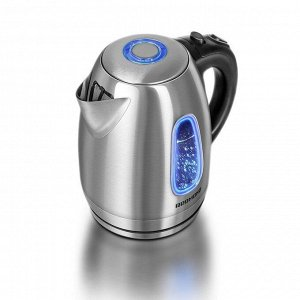 Чайник электрический Redmond RK-M183, 2200 Вт, 1.7 л, подсветка, серебристый