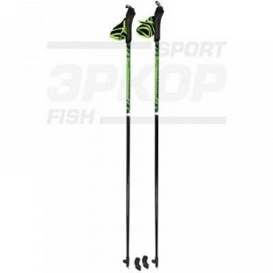 Палки для скандинавской ходьбы STC Extreme Green стеклопластик ручка 2-х компон пластик капкан (x4)