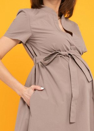 """Платье """"Мари"""" для беременных и кормящих; бежевый"""