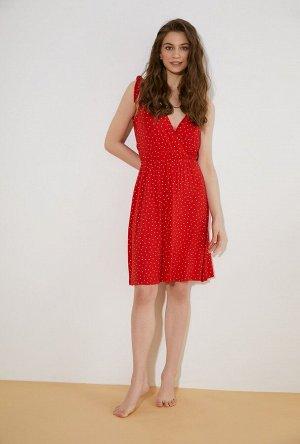 Платье жен. Poppy красный принт