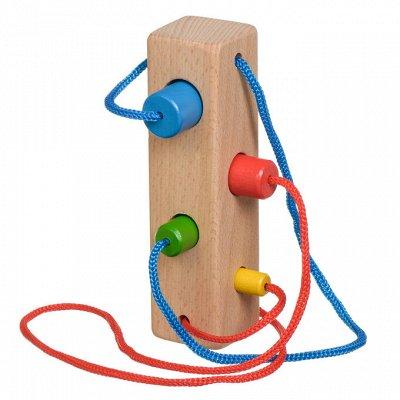 Мир деревянных игрушек — Бусы и шнуровки