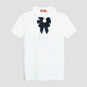 61278 Джемпер с коротким рукавом для девочки (белый)