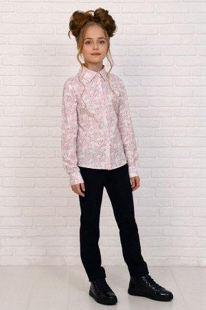 """Рубашка-блузка для девочки """"Коты на розовом """""""