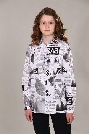 "Рубашка-блузка для девочки ""Газета"""