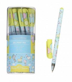 """Ручка шариковая HappyWrite """"Ламы"""", 0,5 мм, синие чернила"""