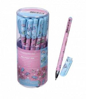 Ручка шариковая HappyWrite «Единорожки», узел 0.5 мм, синие чернила, матовый корпус Silk Touch